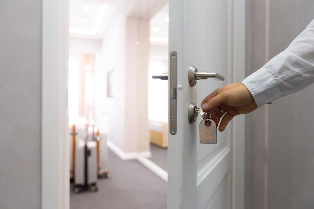 Otwarcie Koncepcji Drzwi Do Hotelu Premium Zdjęcia