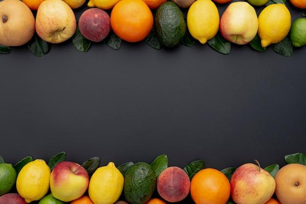 Owocowa Rama Z Różnymi Limonkami I Cytrynami Darmowe Zdjęcia