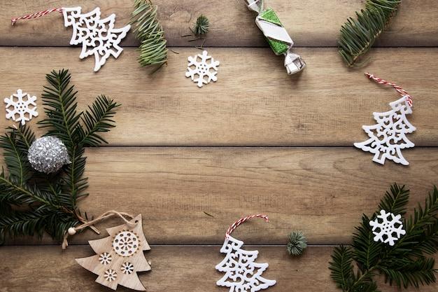 Ozdoby świąteczne ramki z miejsca kopiowania Darmowe Zdjęcia