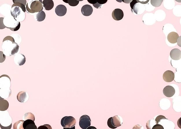Ozdoby Urodzinowe Okrągłe Ramki Widok Z Góry Darmowe Zdjęcia