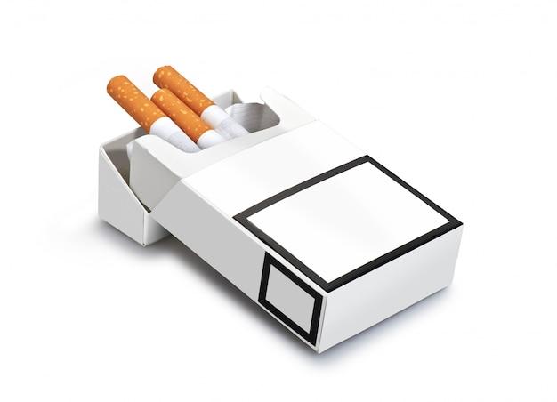 Paczka papierosów na białym tle Premium Zdjęcia