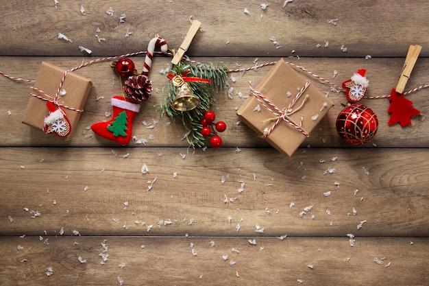 Paczka prezentów i ozdób choinkowych Darmowe Zdjęcia