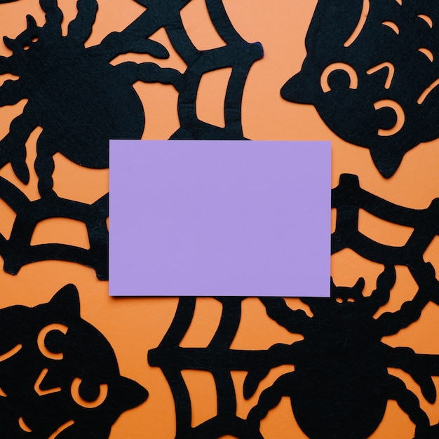 Pająki I Sowy Z Kopią Miejsca W środku Na Halloween Darmowe Zdjęcia