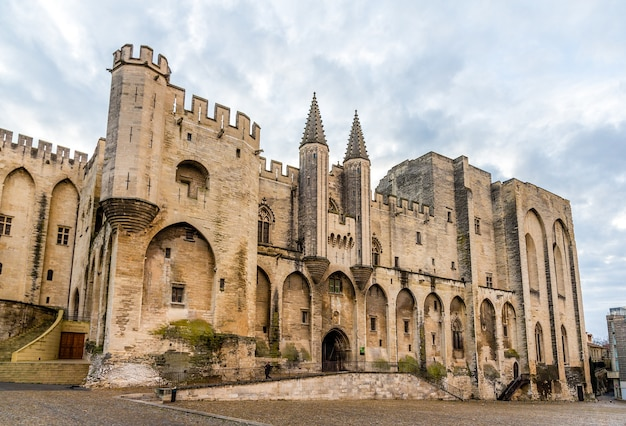 Palais Des Papes Of Avignon, Wpisane Na Listę Unesco We Francji Premium Zdjęcia