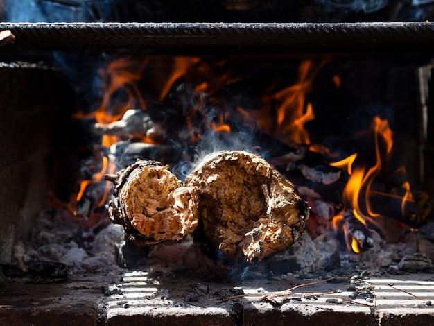 Palenie drewna w grillu Darmowe Zdjęcia