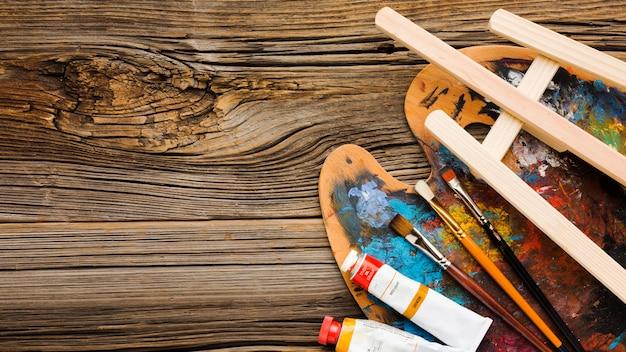 Paleta Kolorów I Miejsce Na Kopię Farby Darmowe Zdjęcia
