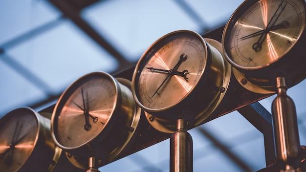 Panel kontrolny pomiaru manometru Premium Zdjęcia