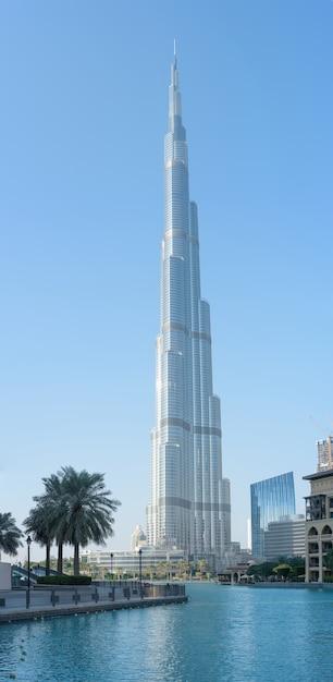 Panorama dubaju burdż chalifa, zea Premium Zdjęcia