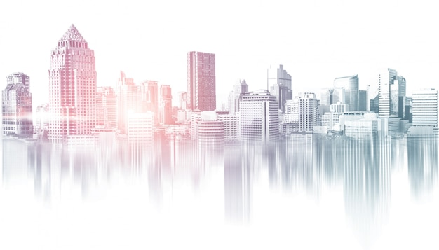 Panoramę Budynków Miejskich W Obszarze Metropolitalnym Premium Zdjęcia