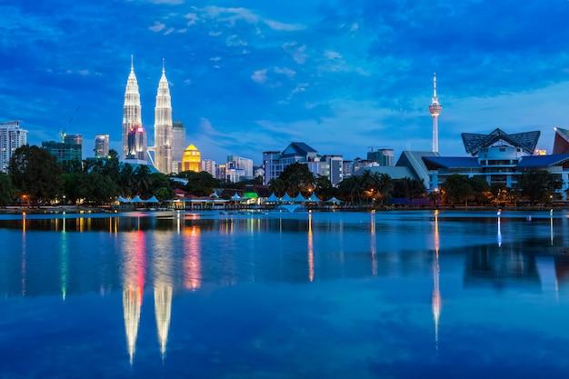 Panoramę Kuala Lumpur Z Premium Zdjęcia