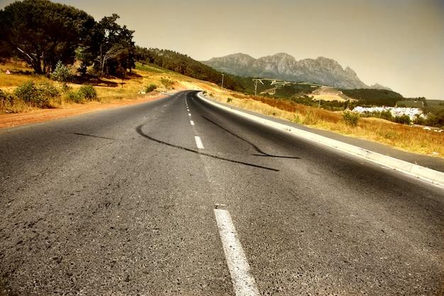 Panoramiczna Wiejska Droga Południowa Afryka Premium Zdjęcia