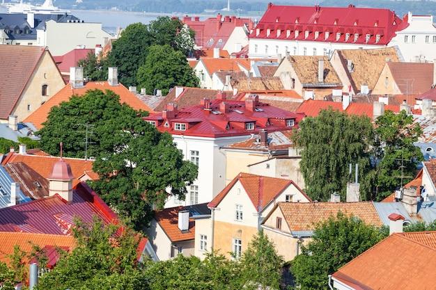 Panoramiczny Widok Tallinn Premium Zdjęcia