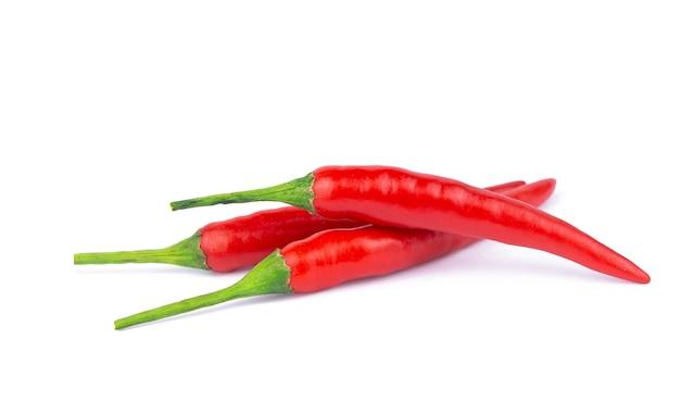 Papryczka Chili Na Białym Tle Premium Zdjęcia
