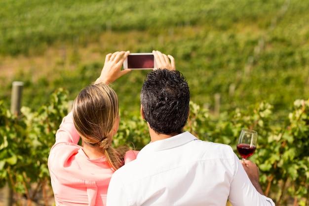 Para Przy Selfie Premium Zdjęcia