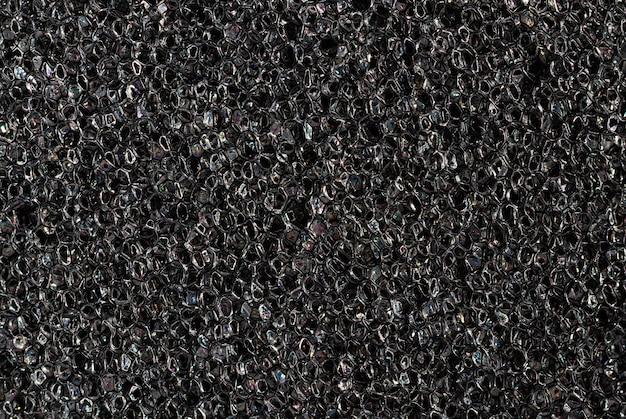 Paralon Tekstury Z Bliska. Wysokiej Jakości Makro Tekstura Ciemnoszarej Gąbki Paralon. Premium Zdjęcia