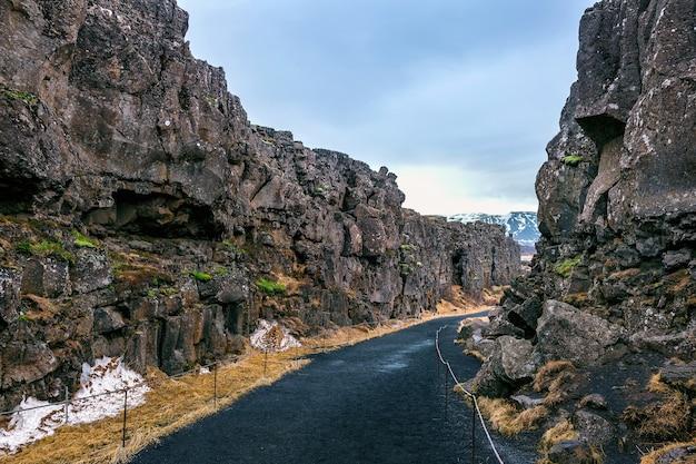 Park Narodowy Pingvellir, Płyty Tektoniczne Na Islandii. Darmowe Zdjęcia