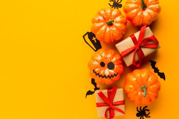 Party halloween dynia z prezentami Darmowe Zdjęcia