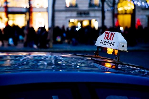 Paryska Taksówka Premium Zdjęcia