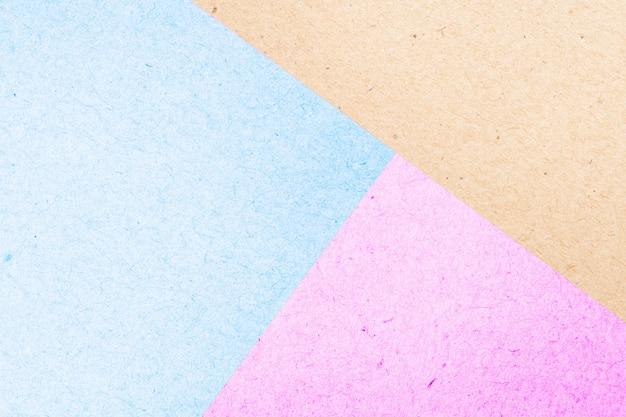 Pastelowe kolorowe pole papieru streszczenie tekstura na tle Premium Zdjęcia