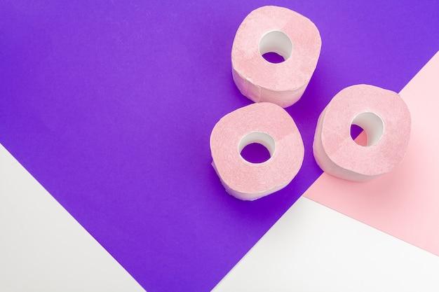 Pastelowy Różowy Papier Toaletowy Z Copyspace Premium Zdjęcia