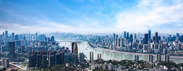 Pejzaż i panoramę chongqing w chmurze nieba Darmowe Zdjęcia