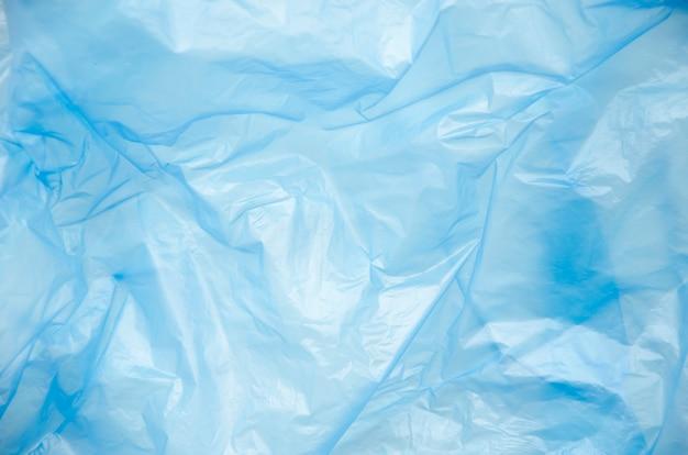 Pełna Rama Niebieskie Tło Plastikowej Torbie Premium Zdjęcia