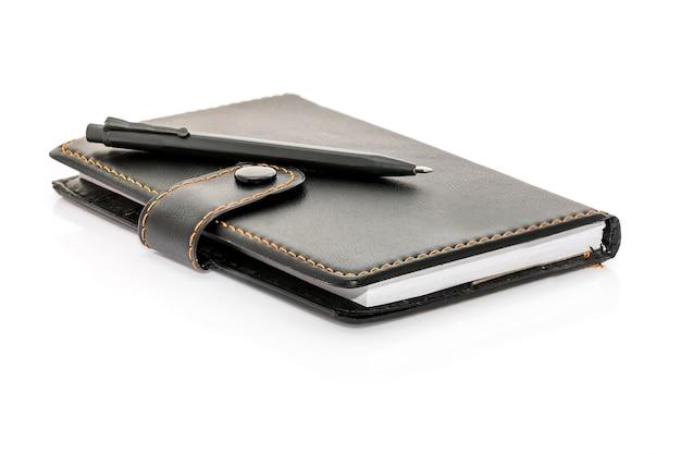 Pen umieścić na notebooku Premium Zdjęcia