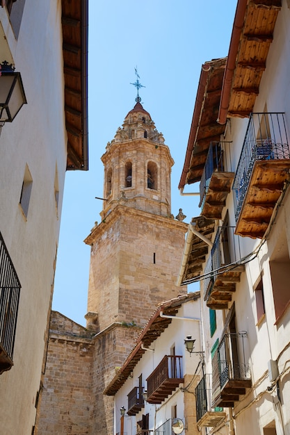 Penarroya De Tastavins W Wiosce Teruel W Hiszpanii Premium Zdjęcia