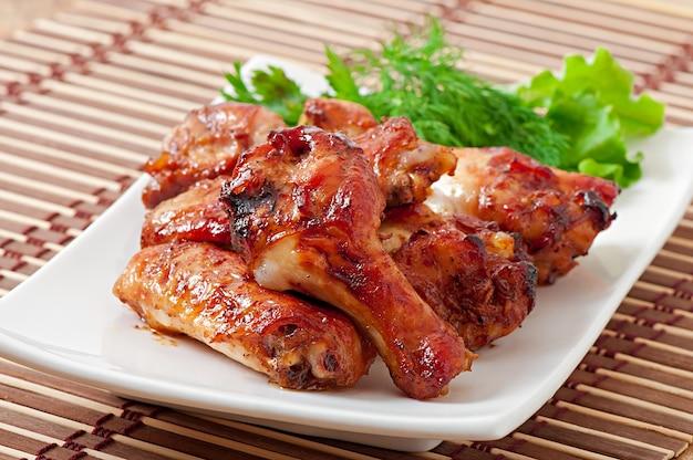 Pieczone Skrzydełka Z Kurczaka W Stylu Azjatyckim Darmowe Zdjęcia