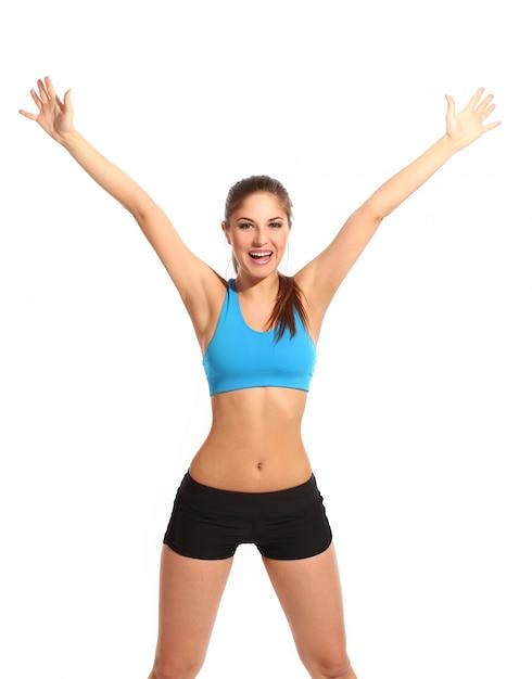 Piękna aktywna kobieta w odzieży fitness Darmowe Zdjęcia