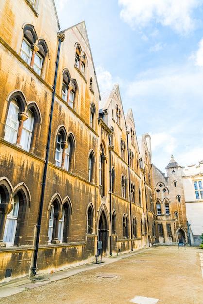 Piękna Architektura Christ Church Cathedral W Oksfordzie, Wielka Brytania Premium Zdjęcia