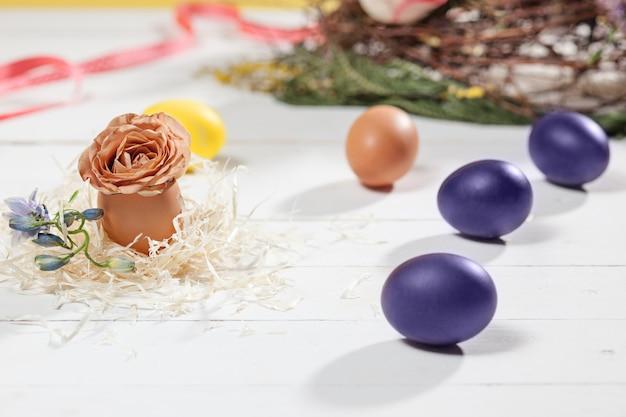Piękna Dekoracja Stołu Wielkanocnego. Darmowe Zdjęcia