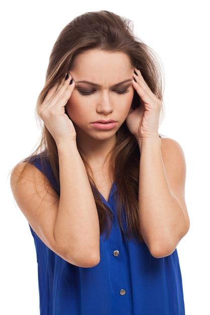 Piękna Dziewczyna Ma Bóle Głowy Darmowe Zdjęcia