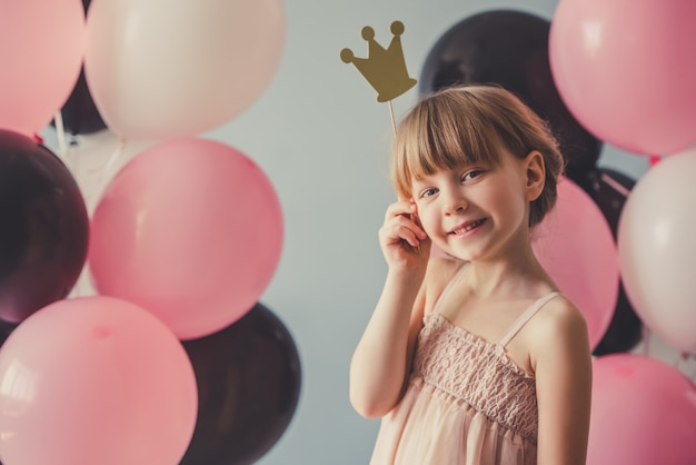 Piękna Mała Księżniczka Premium Zdjęcia
