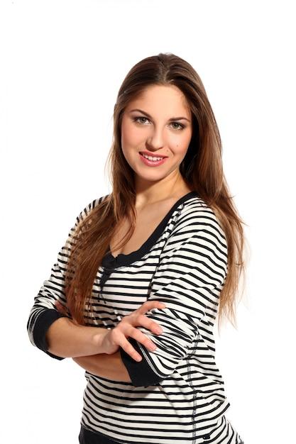 Piękna młoda kobieta z długimi włosami Darmowe Zdjęcia