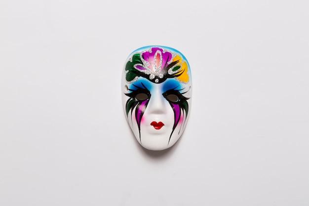 Piękna Wenecka Maska na Bielu Darmowe Zdjęcia