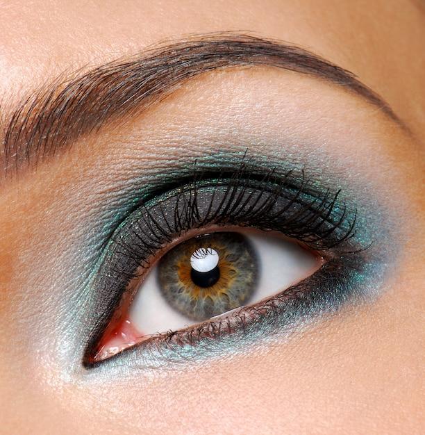 Piękne Kobiece Oko Z Ceremonialnym Makijażem Mody Darmowe Zdjęcia