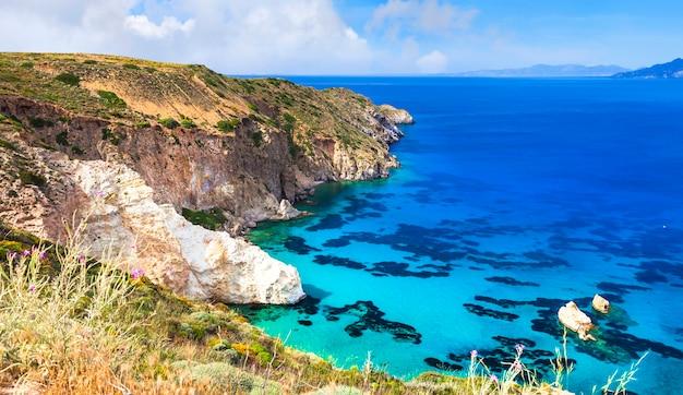 Piękne Krajobrazy Greckich Wysp Premium Zdjęcia