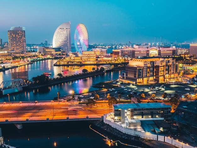 Piękne miasto skyline yokohama w japonii Darmowe Zdjęcia