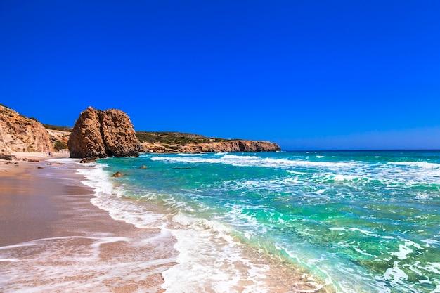 Piękne Plaże Wysp Greckich Premium Zdjęcia