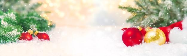 Piękne świąteczne Tło. Selektywna Fokus Uroczystość Premium Zdjęcia