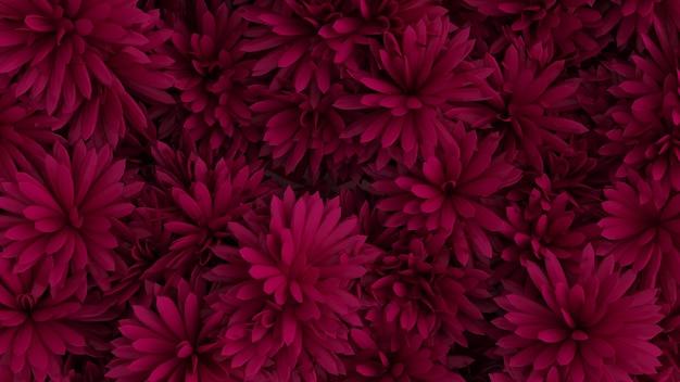 Piękne Tło Z Kwiatami Renderowania 3d Ilustracji Premium Zdjęcia