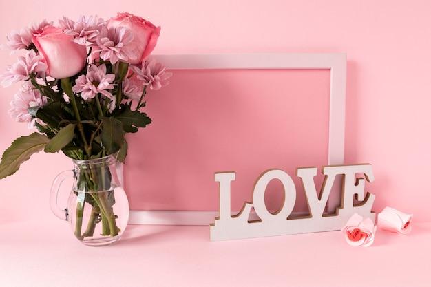 Piękne Walentynki Koncepcja Z Miejsca Na Kopię Premium Zdjęcia