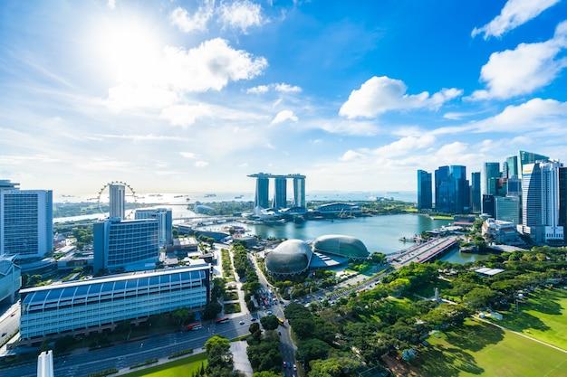 Pięknej Architektury Budynku Zewnętrzny Pejzaż Miejski W Singapur Miasta Linii Horyzontu Darmowe Zdjęcia