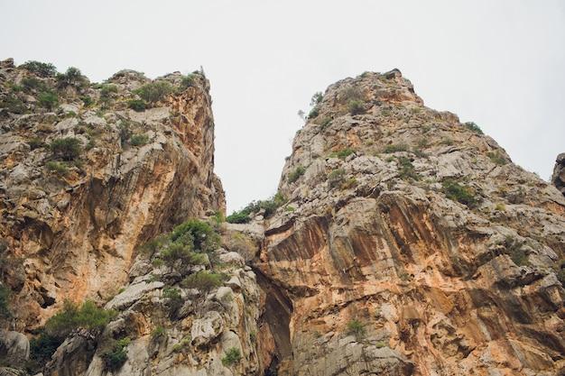 Pięknej Zatoki Plaży Turkusowe Morze Góry, Cala Sa Calobra. Majorka Baleary. Hiszpania. Premium Zdjęcia