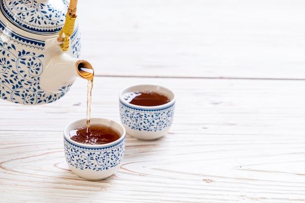 Piękny Chiński Zestaw Do Herbaty Premium Zdjęcia