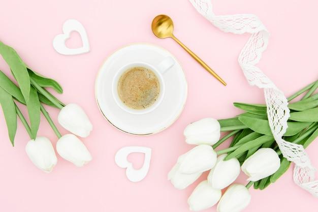 Piękny Dzień Matki Koncepcja Z Tulipany Darmowe Zdjęcia