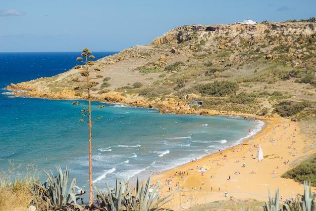 Piękny Obraz Wybrzeża Z Wieloma Ludźmi Darmowe Zdjęcia