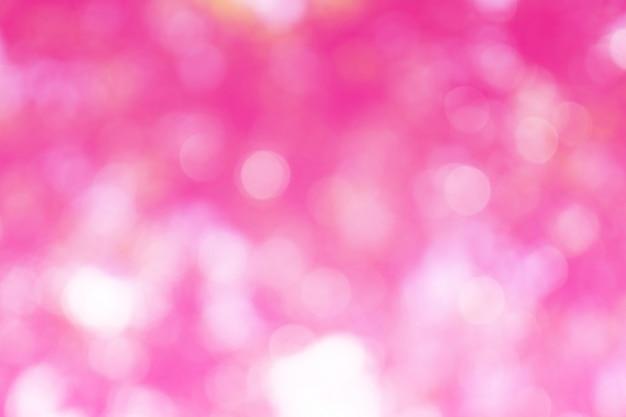 Piękny Różowy Bokeh Z Ostrości Tła Premium Zdjęcia