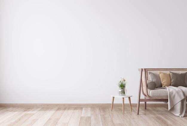 Piękny Salon O Minimalistycznym Designie Premium Zdjęcia